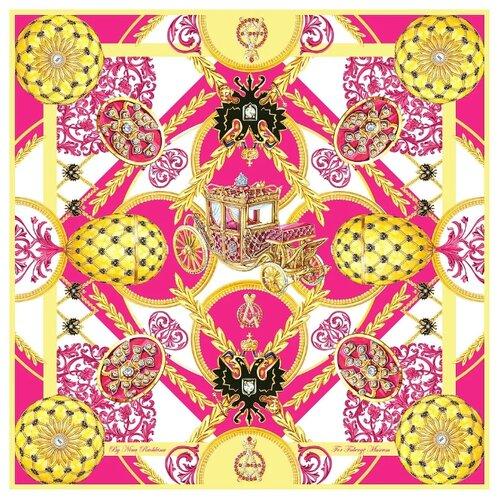 Платок Русские в моде by Nina Ruchkina Фаберже Коронационное Яйцо розовый/желтый/белый цена 2017