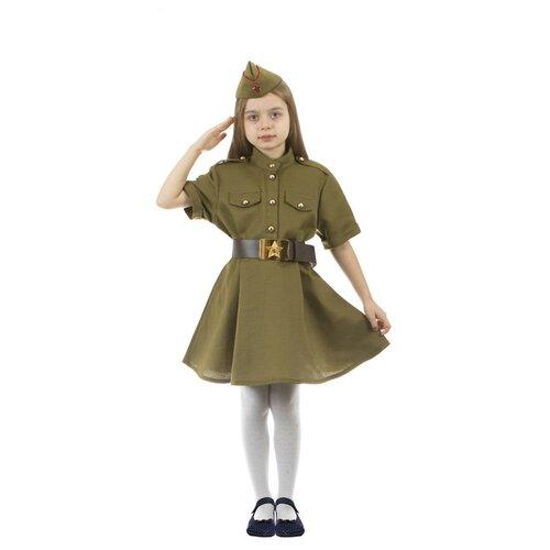 Купить Костюм Страна Карнавалия Военный (4442924/1392490-1392493), зелeный, размер 110-116, Карнавальные костюмы