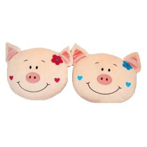 Мягкая игрушка Играем Вместе Подушка Свинка 38 см розовая
