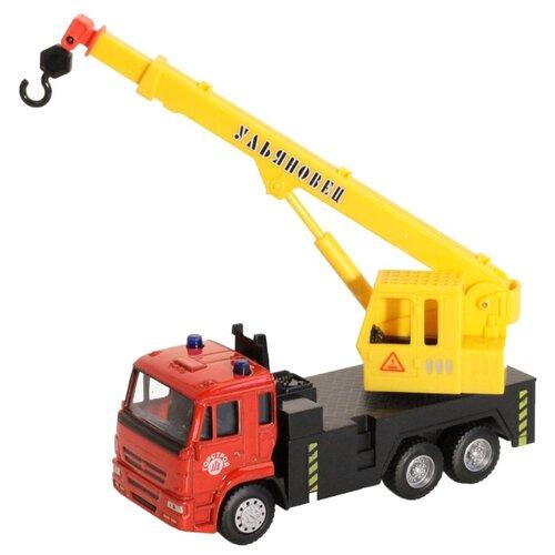 Купить Автокран Автопанорама 1200085/1200086 1:54 красный/желтый, Машинки и техника
