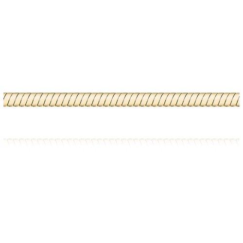 АДАМАС Цепь из желтого золота плетения Панцирь одинарный ЦП140УКА1П-А53, 45 см, 5.33 г