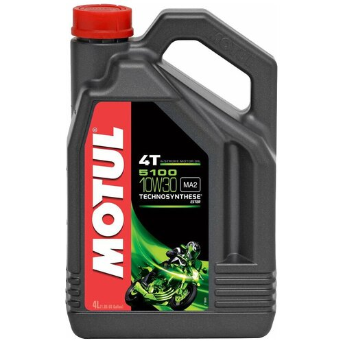 Полусинтетическое моторное масло Motul 5100 4T 10W30, 4 л