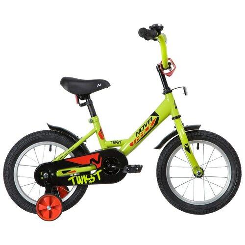 Фото - Детский велосипед Novatrack Twist 14 (2020) салатовый (требует финальной сборки) детский велосипед novatrack twist 20 2020 зеленый требует финальной сборки