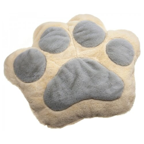 Лежак для кошек Уси Муси 7PET00109 53х43х10 см бежевый / серый
