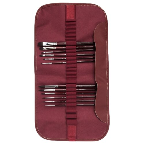 Набор кистей Малевичъ Frida синтетика, со средней ручкой, 12 шт. малевичъ набор квадратных мелков малевичъ сангина темная 3 шт