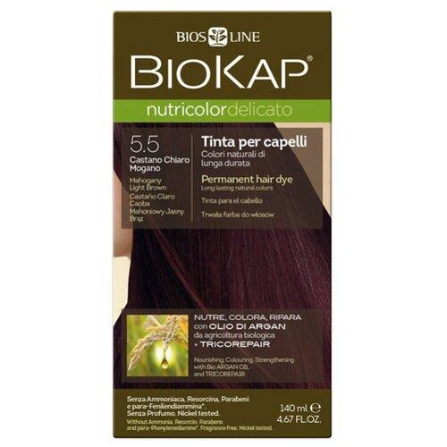 BioKap Nutricolor Delicato стойкая крем-краска для волос, 5.5 махагон
