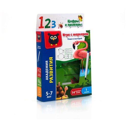 Купить Набор развивающих игр Vladi Toys с маркером «Пиши и вытирай. Цифры и примеры» разноцветный, Обучающие материалы и авторские методики
