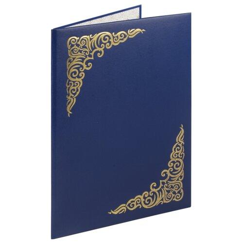STAFF Папка адресная Basic с виньеткой А4, бумвинил синий officespace папка адресная с гербом а4 балакрон синий