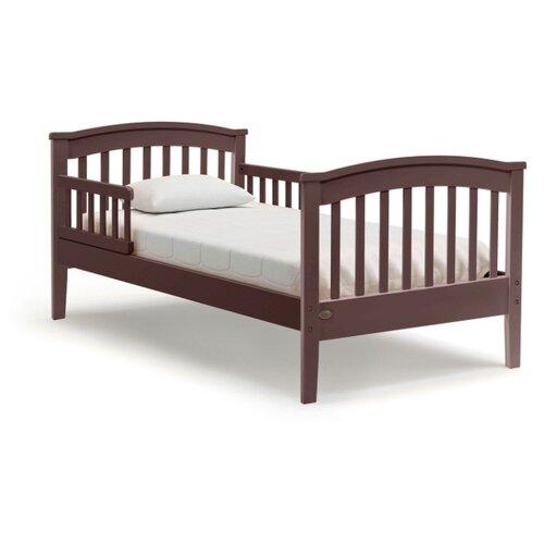 Кровать детская Nuovita Perla lungo, размер (ДхШ): 166х86.5 см, спальное место (ДхШ): 160х80 см, каркас: массив дерева, цвет: Mogano кровати для подростков nuovita fulgore lungo