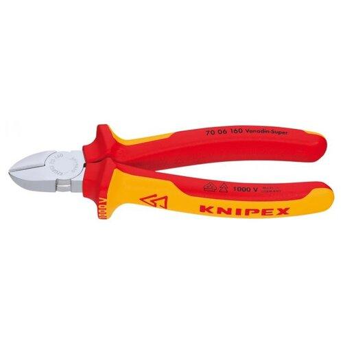 Бокорезы Knipex KN-7006160 160 мм желтый/красный knipex kn 7401160 силовые бокорезы red