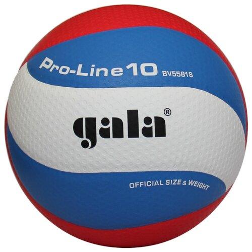 Волейбольный мяч Gala Pro-Line 10 белый/синий/красный