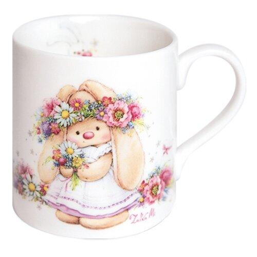 BUDI BASA souvenirs Кружка Зайка Ми в веночке (ММ1-005) 200 мл белый недорого