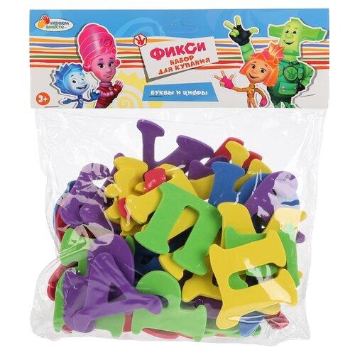 Купить Набор для ванной Играем вместе Фиксики Буквы и цифры (L787-H27724-FIX) красный/фиолетовый/желтый/зеленый/синий, Игрушки для ванной