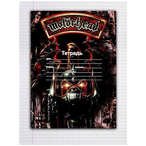 Купить Набор тетрадей 5 штук, 12 листов в клетку с рисунком Motorhead черный череп на коричневом, Drabs, Тетради