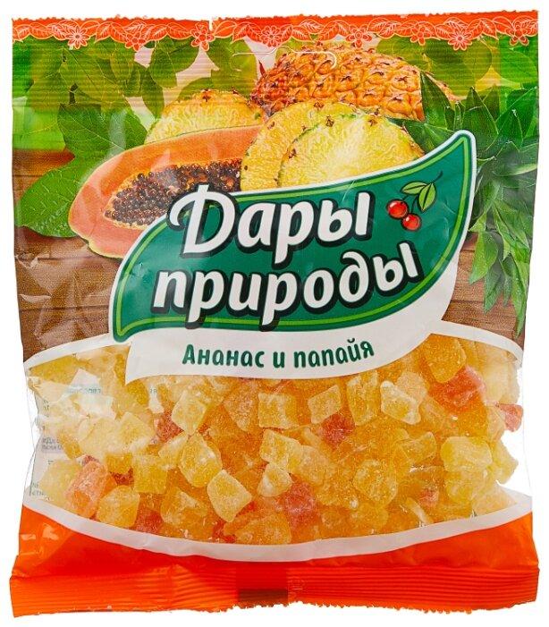 Смесь цукатов ДАРЫ ПРИРОДЫ ананас и папайя 150 г
