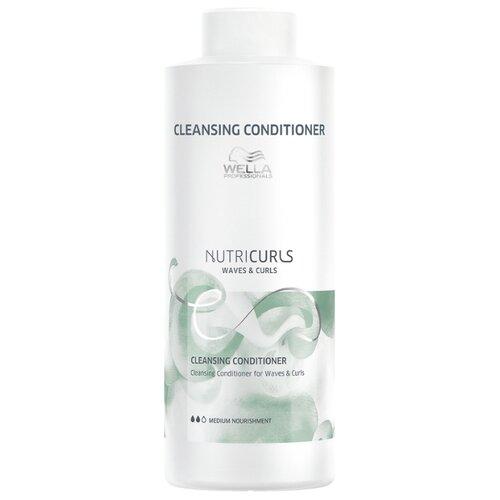 Wella Professionals бальзам для вьющихся и кудрявых волос очищающий NutriCurls Waves & Curls Cleansing Conditioner, 1000 мл wella professionals elements лёгкий обновляющий бальзам 1000 мл