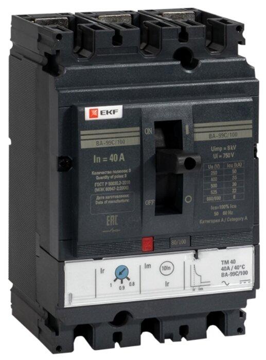 Автоматический выключатель EKF ВА-99C/100 3P (термомагнитный) 36kA