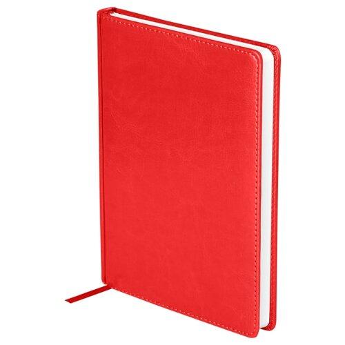 Купить Ежедневник OfficeSpace Nebraska недатированный, искусственная кожа, А5, 136 листов, красный, Ежедневники, записные книжки