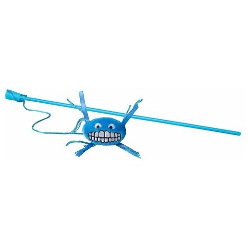 Фото - Игрушка для кошек Rogz Catnip Flossy Magic Stick blue rogz rogz catnip flossy magic stick pink игрушка дразнилка для кошек в виде удочки с плюшевым мячом розовая