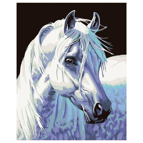 Породистая лошадь Раскраска по номерам на холсте Живопись по номерам KTMK-66514 40х50 дальние странствия раскраска по номерам на холсте живопись по номерам ktmk 96447 40х50