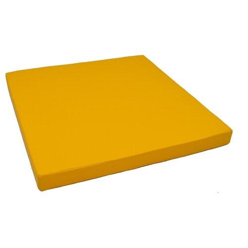 Спортивный мат 1000х1000х100 мм КМС № 2 желтый