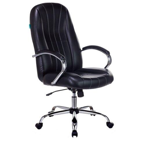 Компьютерное кресло Бюрократ T-898SL для руководителя, обивка: искусственная кожа, цвет: черный кресло руководителя бюрократ t 9910n black черный искусственная кожа пластик серебро
