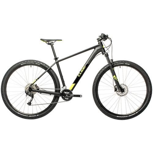Фото - Горный (MTB) велосипед Cube Aim EX 29 (2021) black/flashyellow 17 (требует финальной сборки) велосипед cube elite c 68 race 29 2x 2016