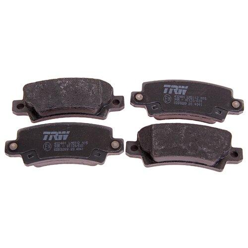 Фото - Дисковые тормозные колодки задние TRW GDB3289 для Toyota Corolla (4 шт.) дисковые тормозные колодки задние nibk pn1519 для toyota corolla toyota auris 4 шт