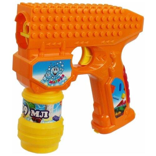 Пистолет для пускания мыльных пузырей 1 TOY Мы-шарики!, 59 мл Т15065 оранжевый игрушка бластер для мыльных пузырей дельфин 11 01249 066