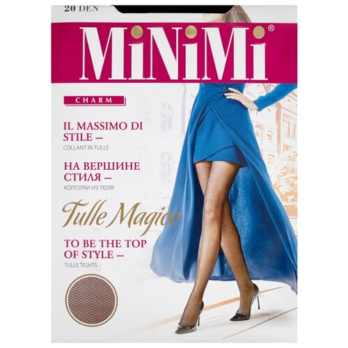 Колготки MiNiMi Tulle Magico 20 den, размер 3-M, nero (черный) колготки minimi tulle magico 20 den размер 3 m daino бежевый