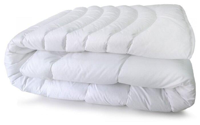 Одеяло Мягкий Сон, стеганое, 205 х 140, цвет: белый. 323-ОБ_Sm-0601у
