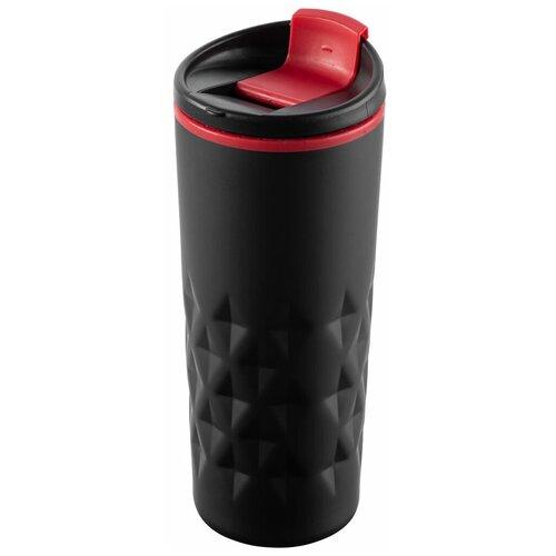 Термокружка molti Relief, 0.4 л черный/красный