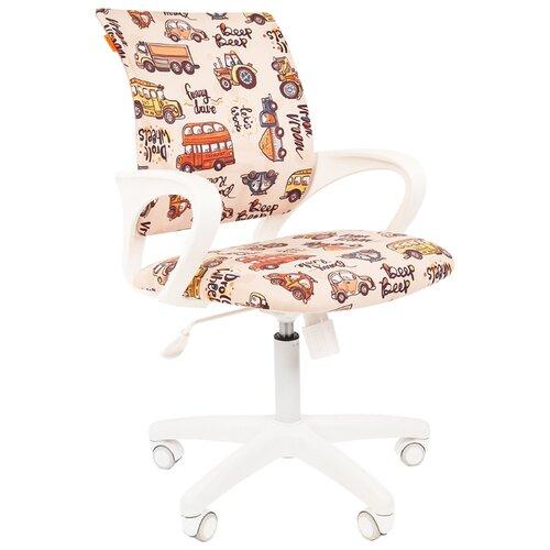 Компьютерное кресло Chairman Kids 103 детское, обивка: текстиль, цвет: автобусы компьютерное кресло chairman kids 106 детское обивка текстиль цвет автобусы