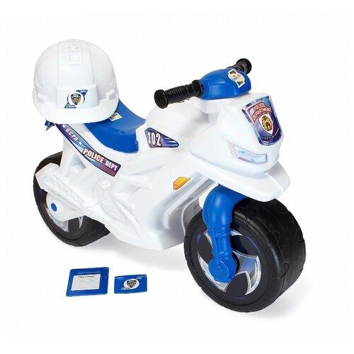 Каталка-толокар Orion Toys Мотоцикл 2-х колёсный с каской (501В2) голубой/белый каталка толокар orion toys мотоцикл 2 х колесный 501 зеленый