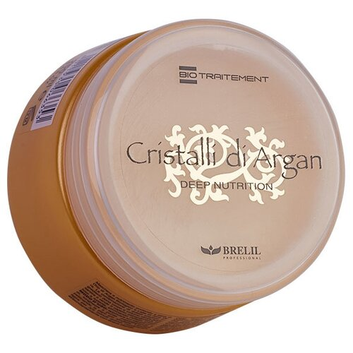 Brelil Professional BioTraitement Cristalli di Argan Маска для волос питательная с аргановым маслом и молочком алоэ вера, 250 мл