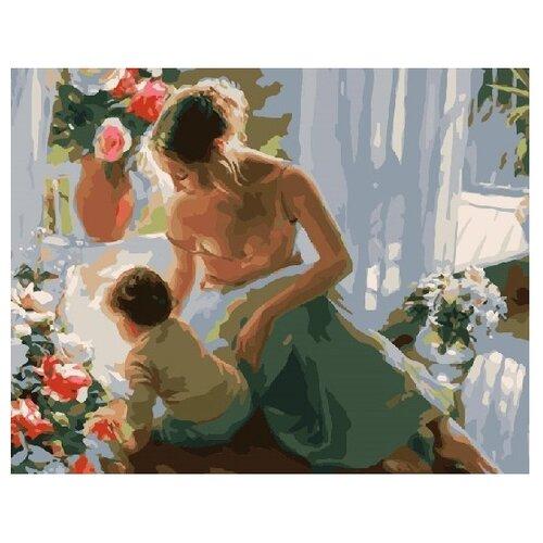 """ВанГогВоМне Картина по номерам """"Мать с сыном"""", 40х50 см (ZX 22246)"""