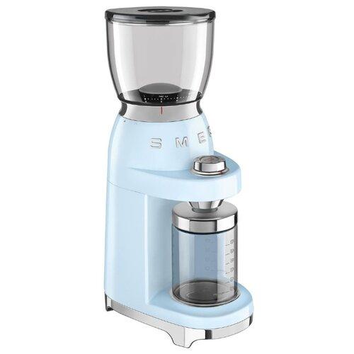 Кофемолка smeg CGF01 пастельный голубой соковыжималка для цитрусовых smeg пастельный голубой cjf01pbeu