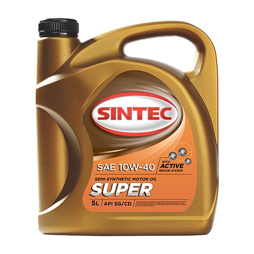 Полусинтетическое моторное масло SINTEC Super 10W-40, 5 л