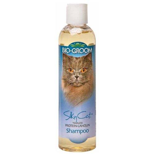 Шампунь -кондиционер Bio-Groom Silky Cat Shampoo шелковый с протеином и ланолином для кошек 237 мл шампунь с рисовым протеином