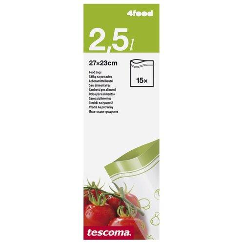 Пакеты для хранения продуктов Tescoma 4food 897028, 27 см х 23 см, 15 шт пакеты бумажные lefard 73 545 23 х 18 х 9 см 10 шт