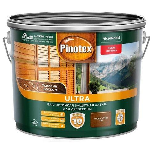 Водозащитная пропитка Pinotex Ultra тиковое дерево 9 л