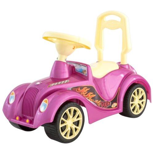 Купить Каталка-толокар Orion Toys Ретро (900) со звуковыми эффектами розовый, Каталки и качалки