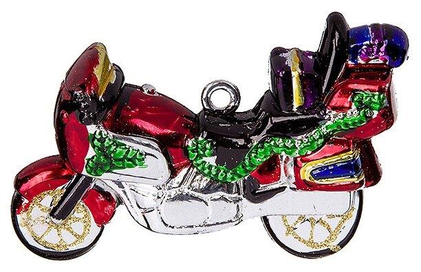 """Новогодняя фигурная игрушка """"Ретро-мотоцикл"""", 11.5 см Snowmen"""