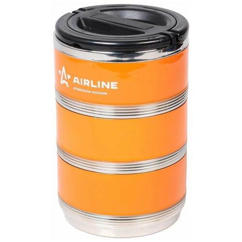 Термос для еды Airline IT-T-03 оранжевый/черный