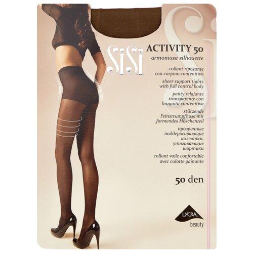 Колготки Sisi Activity 50 den, размер 4-L, naturelle (бежевый) колготки sisi activity 70 den