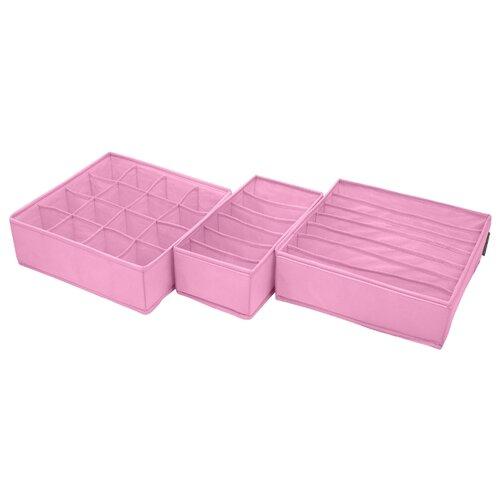 Всё на местах Набор из 3 органайзеров Токио розовый