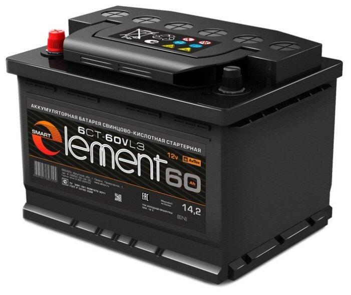 Автомобильный аккумулятор АкТех Smart Element ELE 60-З-L — купить по выгодной цене на Яндекс.Маркете