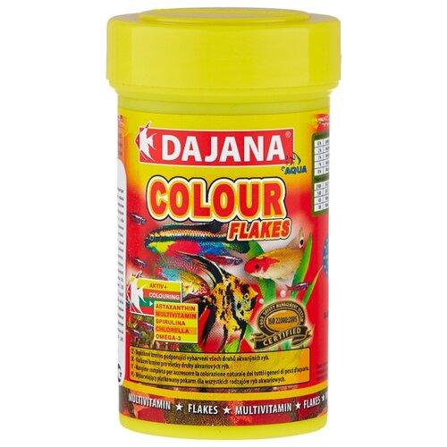 Сухой корм для рыб Dajana Pet Colour Flakes 100 мл 20 г цена 2017