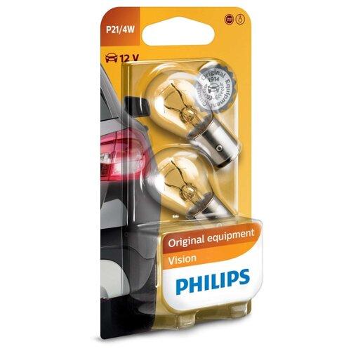 Лампа автомобильная накаливания Philips Vision 12594B2 P21W 21/4W 2 шт. бактерицидная лампа philips tuv 4w t5 g4 871150063872427