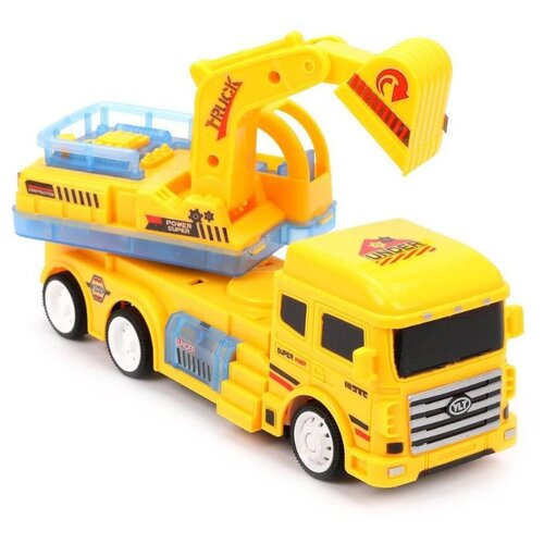 цена Экскаватор Yi Li tong toys Truck (383-36A) 22 см желтый онлайн в 2017 году